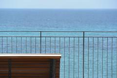 bench with the sea view (Hayashina) Tags: sardegna alghero italy sea fence bench hbm