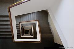 Treppe mit Goldrand (Sockenhummel) Tags: treppe treppenhaus viereck quadrat mäander goldrand staircase stairwell escaliers architektur architecture stairs stufen treppen steps stein fuji xt10