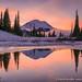 Last Reflection (David Swindler (ActionPhotoTours.com)) Tags: fog mtrainier rainier reflection snow tipsoo tipsoolake washington winter cold ice
