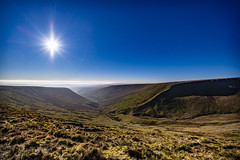 Sunny Day on the Brecon beacons (gopper) Tags: breconbeacons brecon beacons welsh wales hill hills mountain mountains ngc flickr powys nikon d600 fx sunny sky blue view scenic scenery landscape november 2018 autumn walking hillwalker brecons cymru postcard uk british photography