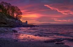 Ravenscraig (jasty78) Tags: sunrise presunrise gloaming dawn colours red purple yellow sky light sun clouds water beach sea seascape ravenscraig ravenscraigcastle kirkcaldy fife scotland nikond7200 sigma350mmf14