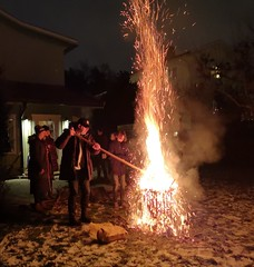 Burning the christmas tree (My Best Images) Tags: fav20 sparks fire christmas tree
