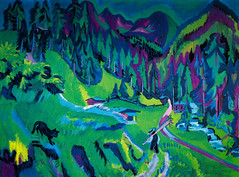 Ernst Ludwig Kirchner - Sertig Valley Landscape, 1924 at Israel Museum Jerusalem Israel (mbell1975) Tags: jerusalem israel il ernst ludwig kirchner sertig valley landscape 1924 museum מוזיאון ישראל‎ muzeon yisrael israeli national imj museo musée musee muzeum museu musum müze museet painting expression expressionism expressionist german deutsch
