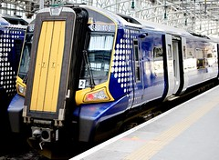 Scotrail class 380/1 Glasgow (Dave Russell (1 million views thanks)) Tags: glasgow central station scotland vehicle public passenger transport class 380 3801 emu electric multiple unit siemens abelio desiro platform 108 380108 end scotrail rail railway railroad car carriage