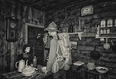 """""""Doughboy"""" in a Flemish kitchen. (Eric@focus) Tags: museum zonnebeke 19141918 soldier american kitchen woman scene americansoldier aef balance alliedforces attack losses push greatwar grooteoorlog grandeguerre bayonet doughboy fieldpack haversack"""