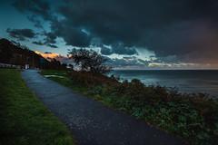 dalkey (viewsfromthe519) Tags: shanganagh bay south dublin county ireland irish sea autumn fall evening clouds sky dark stormy sunset orange blue dalkey