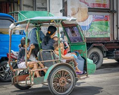 Going home (Beegee49) Tags: street woman mother children filipina tricycle public transport a6000 sony bacolod city philippines asia happyplanet