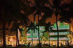 Ocean Drive at dawn (avguy2) Tags: art deco ocean drive miami hotels dusk
