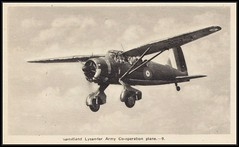 c. 1940 PECO / Ottawa (#9) postcard - Royal Canadian Air Force - Westland Lysander Army Co-operation Aircraft (#442) Based at Rockcliffe, Ontario / WWII (Treasures from the Past) Tags: pecco ottawa postcard lysander aircraft rockcliffe rcaf rcafstationrockcliffe westlandlysander petawawa ontario camppetawawa