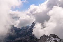 Altmann in the clouds (Rico the noob) Tags: 2018 rock d850 landscape nature outlook switzerland outdoor 2470mmf28 rocks published saentis schweiz dof snow 2470mm sky fog clouds mountains stones mountain