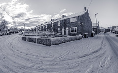 Snow and snow. . . (CWhatPhotos) Tags: cwhatphotos olympus omd micro four thirds 43 digital camera photographs photograph pics pictures pic picture image images foto fotos photography photo tint artistic that have which with contain art em5 mk ll mark 2 light shadow shadows snow winter heavy lying white stuff 2019 february feb sacriston north east england county durham time cold mzuiko 8mm fisheye fish eye prime lens flickr