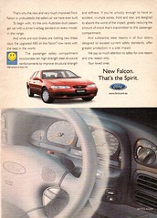 1997 EL Ford Falcon Sedan Page 2 Aussie Original Magazine Advertisement (Darren Marlow) Tags: 1 7 9 19 97 1997 e l el f ford falcon s sedan c car cool collectible collectors classic a automobile v vehicle aussie australian 90s