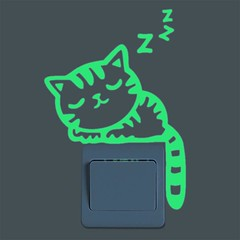 Fluorescent Glowing Cat Sticker For Kids Room (mywowstuff) Tags: gifts gadgets cool family friends funny shopping men women kids home