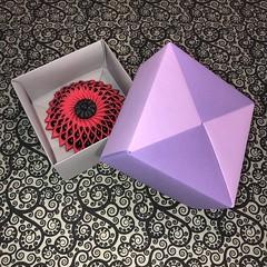 ORIGAMI BOX (JOHN MORGANs OLD PHOTOS.) Tags: origami box brooches ornament brooch made by john morgan