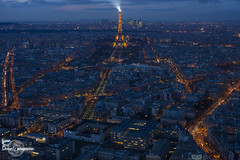 Paris from Montparnasse Tower (Lonely Soul Design) Tags: eiffel tower montparnasse paris france sunset blue hour cityscape nightshot light urbanscape point view