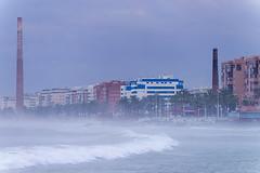 Monica Tower, Malaga. (I'mDKB) Tags: 2015 malaga march nikond600 70300mm 70300mmf4556g lightroom5 lr5 andalucia andalusia espana spain imdkb morning wet windy carreteradecádiz monicatower lachimeneadelosguindos