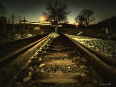 "Semana 52(52) ""Fin"" Proyecto 52 Semanas - 52 Palabras (verne_rdm) Tags: tren findevía nocturna metro topera bufferstop train track agujas railroadswitch point"
