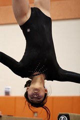 The dismount (stephencharlesjames) Tags: high school sports gymnastics action sport middlebury vermont