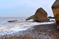 Taken by the sea (rustyruth1959) Tags: surf outdoor seaside lowtide tide erosion concrete structures pebbles sand beach water sea coastalerosion emplacements guns kilnsea coast eastridingofyorkshire yorkshire england uk nikon1855mm nikond5600 alamy nikon shore sky