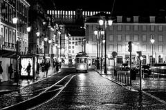 Street of Lisboa (joannab_photos) Tags: citytrip portugal nightlife nightshot tram tramway lisbonne lisboa