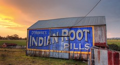 Sunset Sign. (williams.darrell53) Tags: sunset landscape rural farm barn shed sign australia canon cloud sky sun light