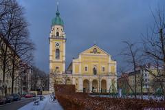 2019 Bike 180: Day 8, January 25 (suzanne~) Tags: 2019bike180 bike bicycle winter snow church josephskirche stjosephs munich bavaria germany neobaroque josephsplatz