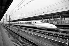 N700 ... (N.Batkhurel) Tags: season summer shinkansen railway railfan japan jr jr700 trains trainspotting tourism transport travel tokyo bw ngc nikon nikondf nikkor 24120mm