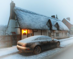 Home Sweet Home - in the snow! (paulinuk99999 (lback to photography at last!)) Tags: paulinuk99999 home snow explore rural england beastfromtheeastii