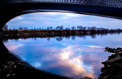 River Flows in You... (ana_kapetan_design) Tags: river colour bridge clouds stone sun sky zagreb
