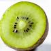 Half fresh kiwi close-up