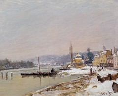 Port-Marly sous la neige (Sisley) (photopoésie) Tags: sisley 1875 portmarly