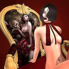 LuceMia - The Darkness Monthly Event (2018 SAFAS AWARD WINNER - Favorite Blogger - MISS ) Tags: thedarknessmonthlyevent boubouki koliatop top poses gotic chair sl secondlife mesh fashion creations blog beauty hud colors models lucemia