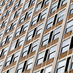 facade (morbs06) Tags: london abstract architecture building city colour facade glass light lines pattern reflections repetition shadow square stripes white windows