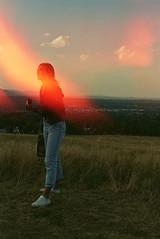 Burning woman (McGurrin Photography) Tags: expiredfilm japanfilm fuji400 boulder colorado sunset filmburn experimentalfilm experiment