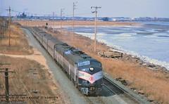 NJT 4248-4276 sb Morgan, NJ. 12-06-1978 (jackdk) Tags: train railroad railway passengertrain passenger newjerseytransit newyorkandlongbranch nylb emd locomotive emde8 emde9 e8 e8a e9 e9a njt njdot morgan morgannj cabunit cab coveredwagon