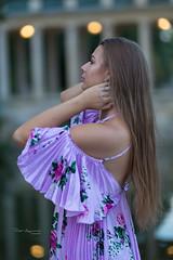 Evening in a park (piotr_szymanek) Tags: kornelia korneliaw woman young skinny outdoor portrait face longhair hand dress 1k 20f 50f 5k 10k 100f 20k 30k 40k