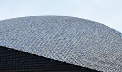 """Het oog"" of ""De wolk"" / ""The eye"" or The cloud "".....on Explore (wilma HW61) Tags: architecture architectuur architettura architektur dak roof diagonaal diagonal detail details fundatie zwolle overijssel biermanhenket gebouw building nederland niederlande netherlands nikond90 holland holanda paysbas paísesbajos paesibassi europa europe outdoor wilmahw61 wilmawesterhoud sky hubertjanhenket hetoog dewolk kunstwerk art arte dakpannen rooftiles explore"