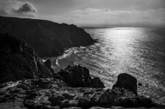 The end of the world (Samuli Koukku) Tags: portugal theendoftheworld landscape sea seascape atlantic ocean rock cabodaroca bw blackwhite travel west sunny water 2018 cliffs nature naturephotography