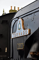 60163 Tornado - Left-hand Smoke Deflector (simmonsphotography) Tags: railway railroad nenevalley heritage preservation locomotive engine train steam uksteam 60163 tornado peppercorn a1 lner pacific newbuild nameplate smokedeflector wansford