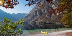 Lake Bohinj (dieLeuchtturms) Tags: julischealpen bohinjskojezero herbst europa see bergsee 2x1 panorama wasserspiegelung alpen slowenien alpigiulie alps bohinjsee europe julianalps julier julijskealpe lakebohinj republikaslovenija slovenia waterreflections autumn fall lake reflection waterreflection ukanc radovljica si