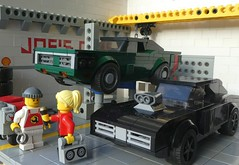 Your Opinion, Mike? (captain_joe) Tags: toy spielzeug 365toyproject lego minifigure minifig moc car auto 6wide joescars mikethemechanic dodge charger brickverse 75893