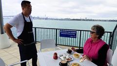 Lunch on the Birkenhead Wharf (Sandy Austin) Tags: panasoniclumixdmcfz70 sandyaustin northisland northshore birkenhead wharf food auckland newzealand waitemataharbour harbour
