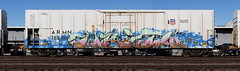Writs (quiet-silence) Tags: graffiti graff freight fr8 train railroad railcar art writs ese armn reefer unionpacific e2e endtoend armn768401