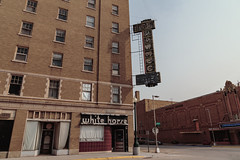 White Horse on 5th Street and Hotel Pawnee (The Yancey) - North Platte, Nebraska (Tony Webster) Tags: 1929 221east5thstreet hotelpawnee keithneville nebraska northplatte pawnee pawneehotel thepawnee theyancey whitehorse yancey yanceyhotel abandoned assistedliving historic hotel vacant unitedstates us