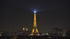 Parisian night (in explore 06 Nov. 2018) (Gwenael B) Tags: paris toureiffel eiffel tower night bynight urban nightshooter nightshot sacrécoeur viewpoint nikond5200 nikon tamron16300mm tour france