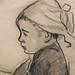 GAUGUIN,1886 - Jeune Bretonne assise (Quai Branly) - Detail 07