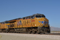 Afternoon greeting (Rail explorer) Tags: unionpacific up2694 yumasub sunsetroute nilandca imperialvalley