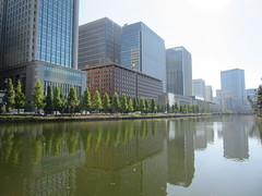 Tokyo Imperial Palace (SqueakyMarmot) Tags: travel asia japan tokyo imperialpalace moat reflections