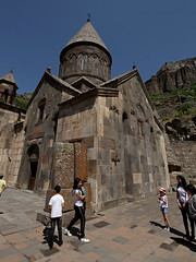 Geghard Monastery (cowyeow) Tags: armenia caucuses composition landscape geghard monastery geghardmonastery old travel historical architecture orthodoxchristianity tourists people candid church