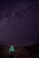 Leo contemplating stars (neil.dalphin) Tags: yellow star milkyway galaxy night core dark long exposure desert anza borrego california